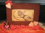 Chocolade decoratie valentijn